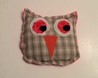 Microwave rice heat pack, owl heating pad, raggedy owl