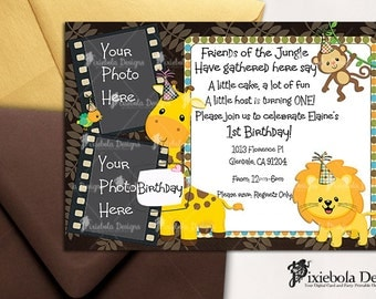 Photo Jungle Birthday Invitation or For All Occasions (Design Fee)