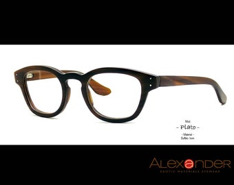 Eyeglasses handcrafted Eyewear by the finest quality of natural Buffalo horn.FREE SHIPPING