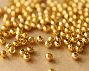 150 pc. 3mm Gold Plated Spacer Beads | FI-134
