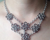 Chainmaille 6 Flower Reversible Necklace