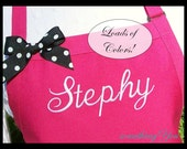 Custom Name Apron - Personalized Name Aprons for women, custom baking apron, personalized kitchen apron, customized apron with name, pockets