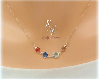 Birthstone Necklace, Mom Gifts, Mothers Necklace, Birthstone Jewelry, Mothers Day Gift, Sterling Silver Necklaces