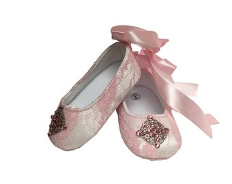 Baby Girl Crystalized Shoes, Crystalized Baby Shoes, Swarovski Baby Shoes, Ballerina Style Baby Shoes, Baby Girl, Photo Prop