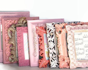 Ornate 8x10 picture frames pinks,silvers,corals YOU choose how many