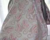 Car Seat Canopy - Pink Paisley