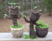 Crocheted Baby Groot.