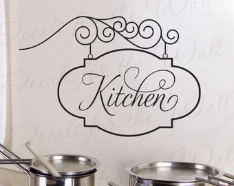 Kitchen Sign Wall Decal Large Vinyl Sticker Art Graphic Decor Mural Decoration G20