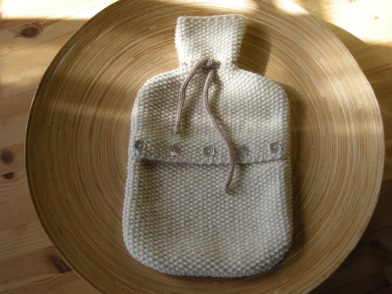 ENOR - Hot Water Bottle Cover - Wool & alpaca - Off-white - other colors made to order - free shipping worldwide