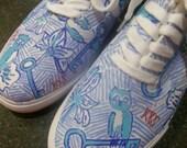 Custom Handpainted Lilly Pulitzer Canvas Sneakers - kappa kappa gamma