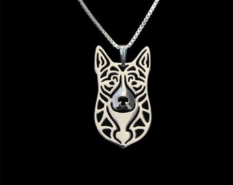 Australian Cattle Dog - sterling silver pendant and nacklace