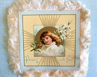 Victorian Silk Fringe Easter Day Card