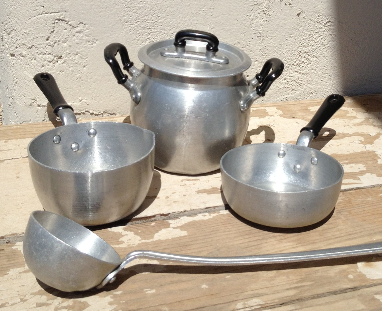 Vintage Pots and Pans Childrens Cookware Creative Playthings
