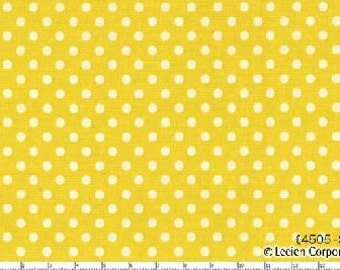 Citron  Small Polka Dots from Color Basics by Lecien