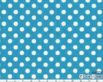 Pale Blue Medium Polka Dots from Color Basics by Lecien