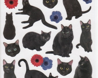 Black Cat Stickers (11426)