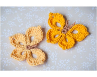 Elegance Butterfly Crochet Pattern - PDF crochet pattern by GloriousUnique - Butterfly pattern