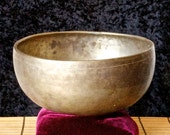 Antique Tibetan Singing Bowl Small Jambati Om Pitch