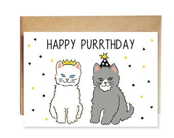 Happy Purrthday Kitten Card