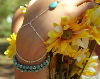 Turquoise Link Slave Bracelet