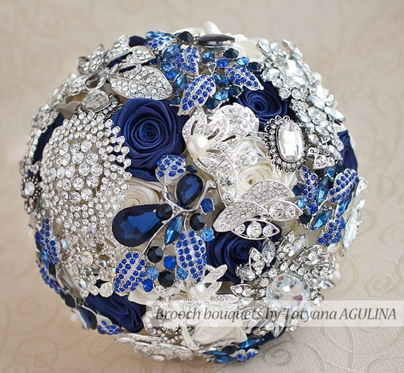Navy Blue And Silver Wedding Ideas: BLUE BOUQUET. Navy Blue And Silver Wedding By TatyanaAgulina
