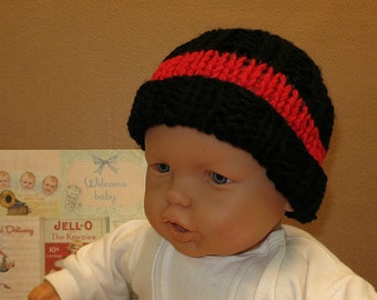 AFL Essendon Football Beanie, Bombers Knitted Baby Hat, 0 Months to 10 Years, Baby Shower Gift