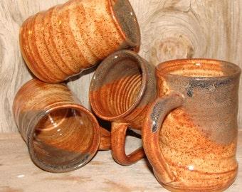 Rustic Brown Set of 4 Coffee Cups