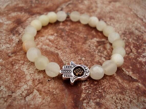 Hamsa Bracelet, Yoga Bracelet, Spiritual Bracelet, Hamsa Hand Bracelet, Men's Charm Bracelet, Onyx Bracelet, Women's Bracelet, Mens Bracelet