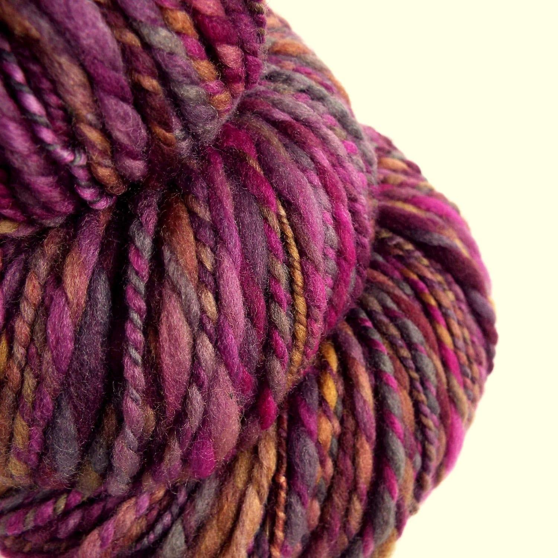 Knitting Handspun Wool : Knitting yarn chunky handspun wool bulky