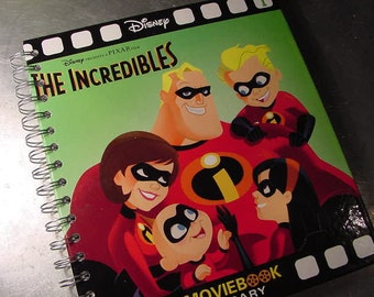 THE INCREDIBLES Journal Disney Pixar Vintage Book  Recycled Upcycled