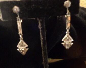 Deco Dangly paste earrings