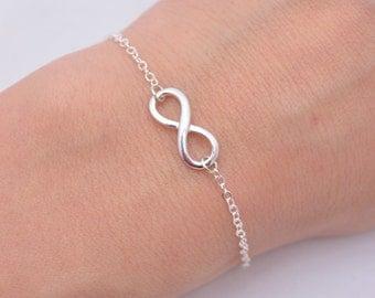 Set of 6 Sterling Silver Infinity Bracelets, 6 Bridesmaid Infinity Bracelets, Silver Infinity Bracelets, 925 Sterling Silver Bracelets 0261