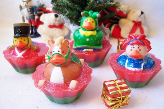 Toy Ducky Cupcake Soaps, Christmas Gifts, Stocking Stuffers, Childrens ...