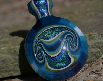 Dichroic Hollow Blown Pendant with Maria Bale - Reversible