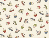 Paper Dolls Bakery  Cupcake Cream  by Penny Rose Fabrics