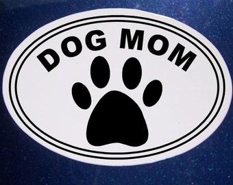 Dog Mom Car Magnet, Oval Car Magnet, Rescue Pet, Pet Magnet, Dog Magnet