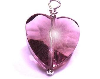 Lilac Crystal Charm Pendant Dangle