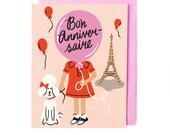 French Birthday Card - Bon Anniversaire
