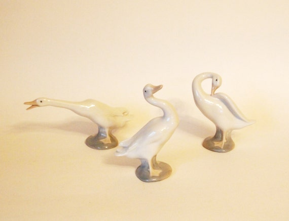 Vintage lladr duck figurines porcelain set of 3 little duck - Consider including lladro porcelain figurines home decoration ...