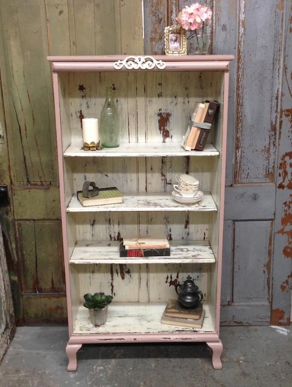 rosa shabby chic b cherregal malte distressed m bel antikes. Black Bedroom Furniture Sets. Home Design Ideas