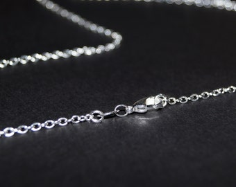 Silver Chain - 20 inch necklace - Solid Sterling Silver Necklace  - Solid Silver Necklace - Valentines Gift -