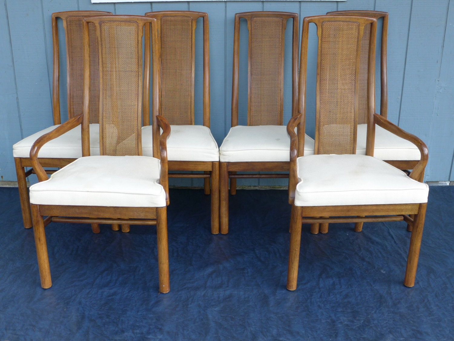set of 6 drexel heritage dining chairs with by zeejunkhunter