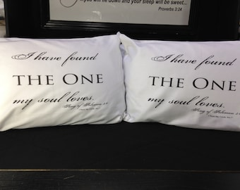 I Have Found The One My Soul Loves pillowcase set