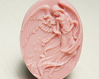 TP035 Elegant Angel Soap Mold, soap mold, silicone soap mold (Kudos Design, Kudosoap) Taiwan