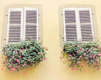 Double Duty, France Photography, Window Photography, Travel Photography, Art Print, Wall Decor