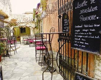 Restaurant Cove, France Photography, Restaurant, Travel Photography, Art Print, Wall Decor