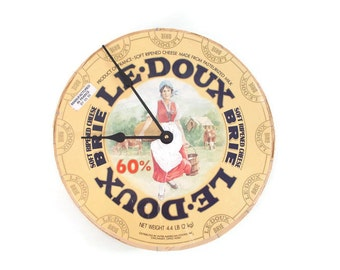 Vintage Repurposed Cheese Box Clock