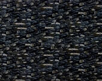 Northwoods Black Rocks fabric - stone wall - LAST 1.25 YARDS