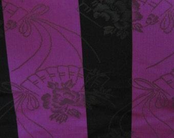 Vintage REPURPOSE Japanese Obi Sash Belt Kimono Yukata Purple Black