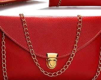 Envelope Clutch Chain Purse